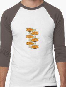many fish (school) Men's Baseball ¾ T-Shirt