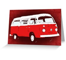 Bay Camper Red White New Version Greeting Card