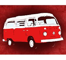 Bay Camper Red White New Version Photographic Print