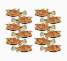 many fish [zip split) Kids Clothes