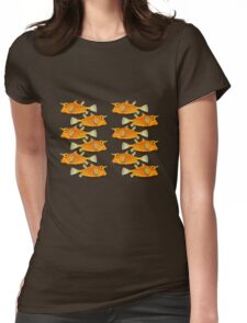 many fish [zip split) Womens Fitted T-Shirt