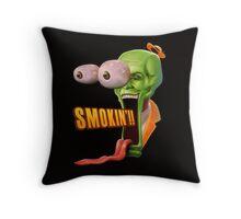 Smokin' Mask Throw Pillow