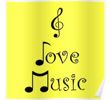 I Love Music - Yodeling Yellow Poster