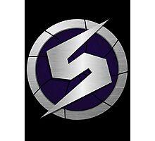 Purple Metroid Logo (Gravity Suit) Photographic Print