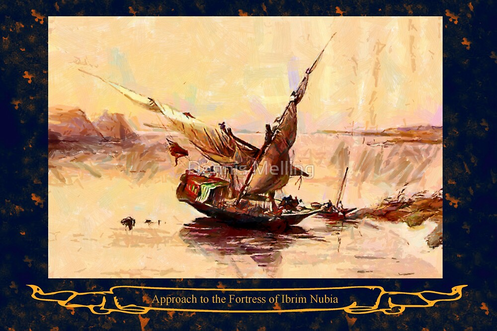 A 19th century Dahabieh, or River Nile Sailing Boat by Dennis Melling