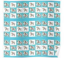 Mix and match Swiss cow pattern Poster