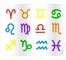 Rainbow Zodiacs Poster