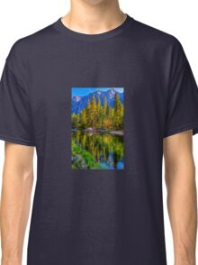 Reflections on the Merced river, Yosemite National Park Classic T-Shirt