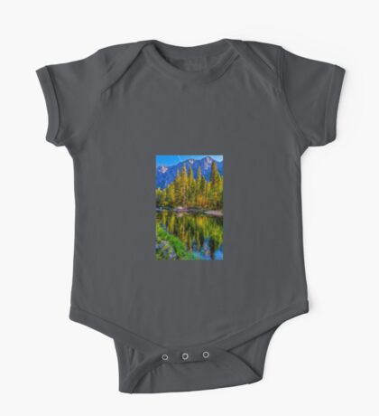Reflections on the Merced river, Yosemite National Park One Piece - Short Sleeve