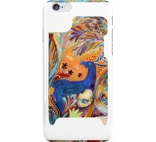 "iPhone case 1 based on my original artwork ""The Peacocks and Blue Deer"" iPhone Case/Skin"