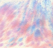 Watercolor Hand Painted Pink and Blue Speckled Background by Beverly Claire Kaiya