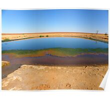 Waterhole on the way to Lake Ayes Poster