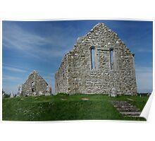 Church Ruins Clonmacnoise Poster