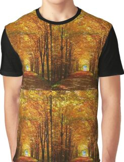 Autumn Light and Leaf Painting Graphic T-Shirt