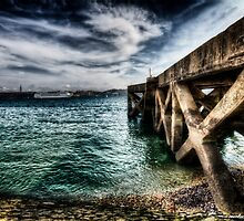 Ode to the Big Sea - Tagus River, Lisbon Docks Portugal by NSantos