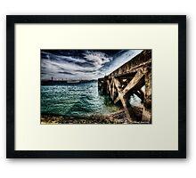Ode to the Big Sea - Tagus River, Lisbon Docks Portugal Framed Print