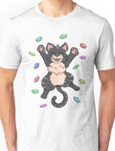 Kitty Heaven Black Fur Unisex T-Shirt