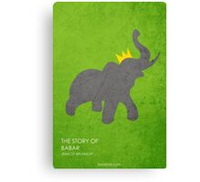 The Story of Babar Canvas Print