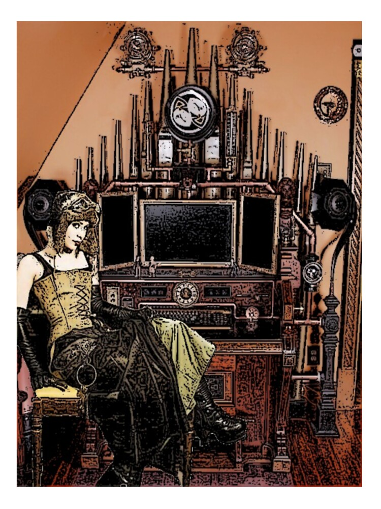 Steampunk girl by Russell Lang