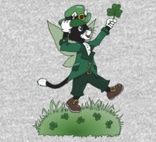 St Patricks Cait Sith with Shamrock Kids Clothes