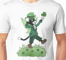 St Patricks Cait Sith with Shamrock Unisex T-Shirt