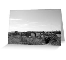 Empty Corrals Greeting Card