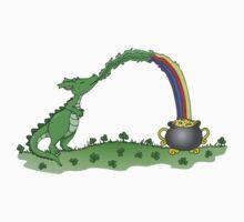 Lucky Green Dragon Rainbow Kids Clothes