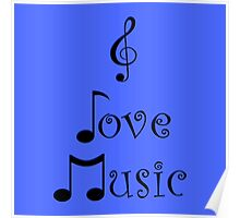 I Love Music - Beatbox Blue Poster