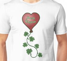 Irish Charm Shamrock String Heart Balloon Unisex T-Shirt