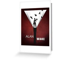 Alan Wake Greeting Card