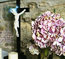 Flowers and Cross by Ms-Bexy