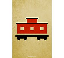 The Little Red Caboose w/o Title Photographic Print