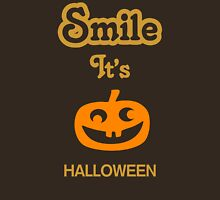 Smile it's HALLOWEEN Womens Fitted T-Shirt