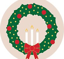 Holiday Wreath Spot Illustration Sticker by PagingVeronica