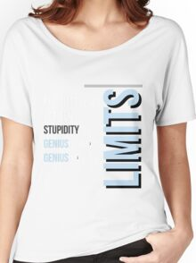 """""""The Difference between Genius and Stupidity"""" Women's Relaxed Fit T-Shirt"""