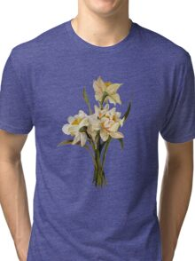 Double Narcissi In A Bouquet Isolated Tri-blend T-Shirt