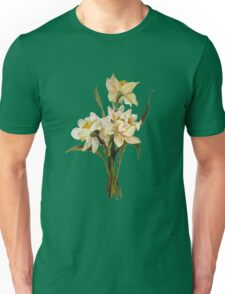 Double Narcissi In A Bouquet Isolated Unisex T-Shirt
