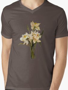 Double Narcissi In A Bouquet Isolated Mens V-Neck T-Shirt