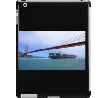 Commerce.- Cargo ship under the Golden Gate Bridge, San Francisco, California iPad Case/Skin