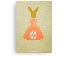 The Country Bunny and the Little Gold Shoes w/o Title Canvas Print