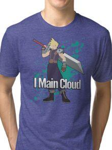 I Main Cloud - Super Smash Bros Tri-blend T-Shirt