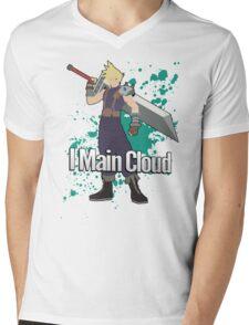 I Main Cloud - Super Smash Bros Mens V-Neck T-Shirt
