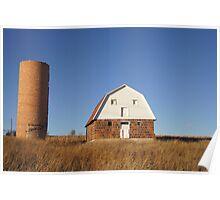 Red Barn, Blue Sky Poster