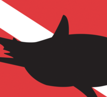 Shark SCUBA Flag Sticker