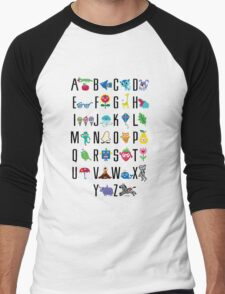 Alphabet Cute  Men's Baseball ¾ T-Shirt