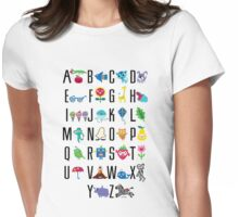 Alphabet Cute  Womens Fitted T-Shirt