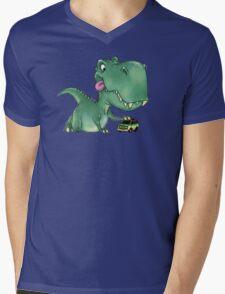 Playful Rex Mens V-Neck T-Shirt