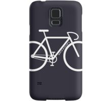 White Bike Silhouette Samsung Galaxy Case/Skin