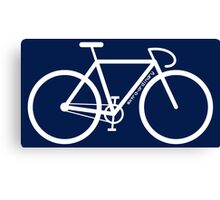 White Bike Silhouette Canvas Print