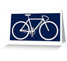 White Bike Silhouette Greeting Card